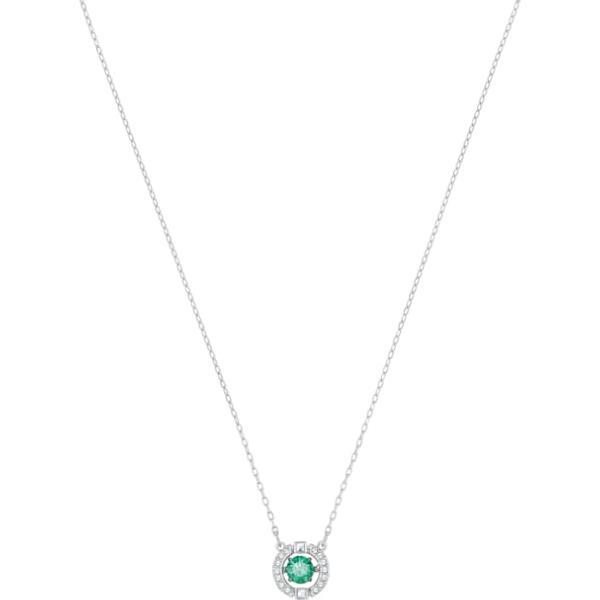 733f83184000f Swarovski Collections - Sparkling Dance Necklace, Green, Rhodium Plating