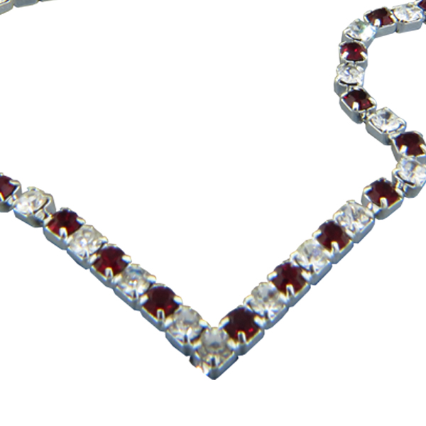Rhinestone Necklace Crystal and Siam