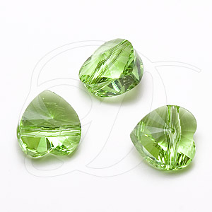 Swarovski 5742 Heart Bead Peridot 8mm