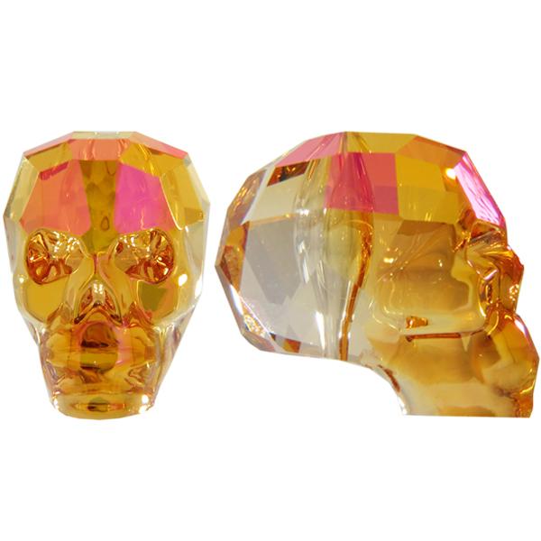 Swarovski 5750 Skull Bead Crystal Astral Pink 19mm