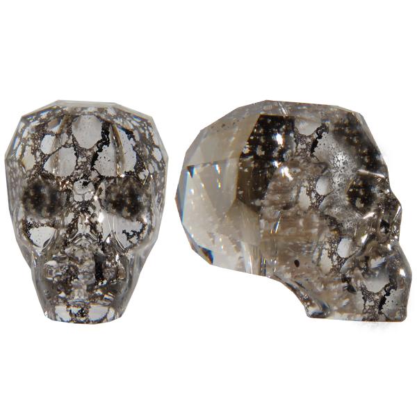 Swarovski 5750 Skull Bead Crystal Black Patina 13mm