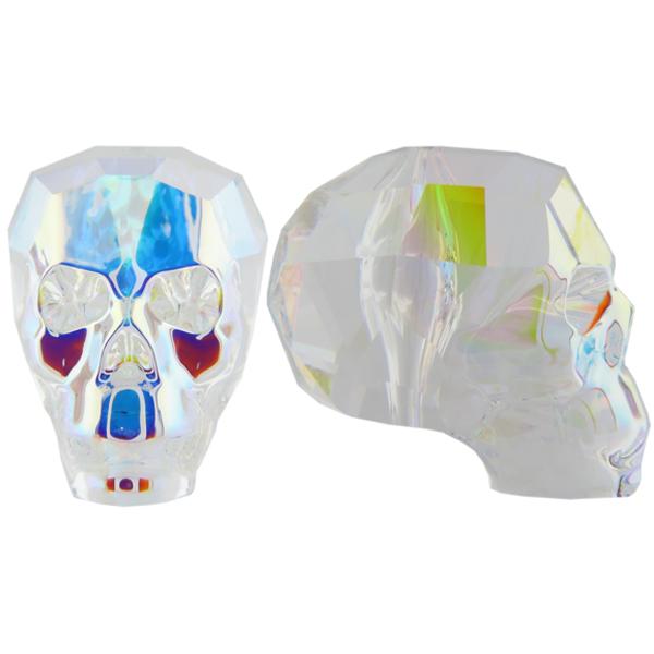 Swarovski 5750 Skull Bead Crystal AB 13mm