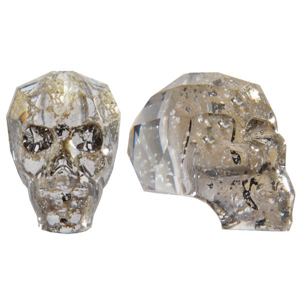 Swarovski 5750 Skull Bead Crystal Gold Patina 13mm