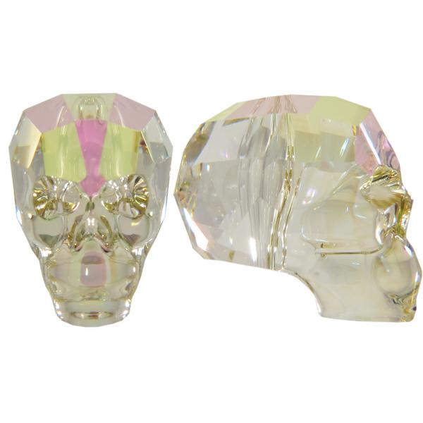 Swarovski 5750 Skull Bead Crystal Luminous Green 19mm