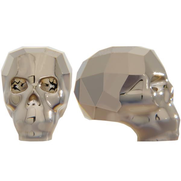 Swarovski 5750 Skull Bead Crystal Metallic Light Gold 2X 19mm