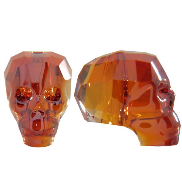 Swarovski 5750 Skull Bead Crystal Red Magma 19mm