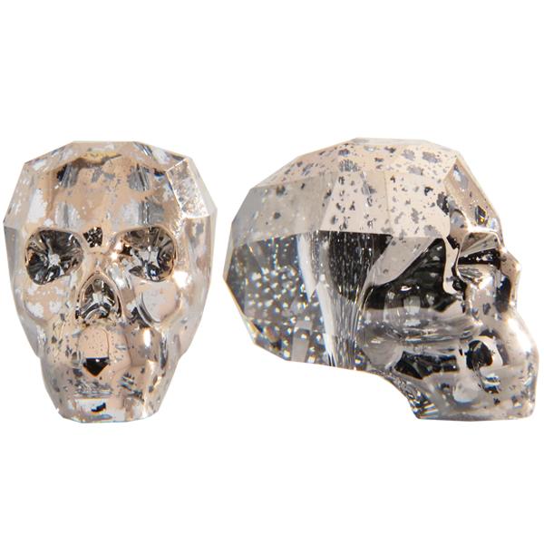 Swarovski 5750 Skull Bead Crystal Rose Patina 19mm