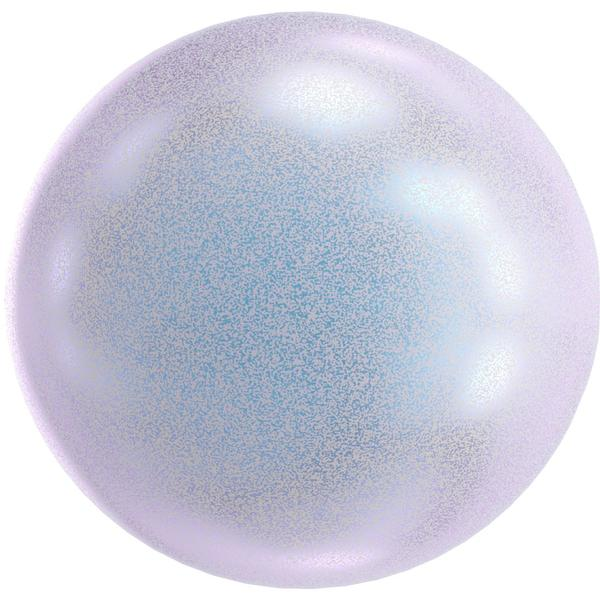 Swarovski 5818 1/2 Drilled Round Pearl Dreamy Blue 8mm