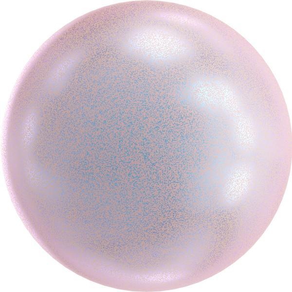 Swarovski 5818 1/2 Drilled Round Pearl Dreamy Rose 10mm