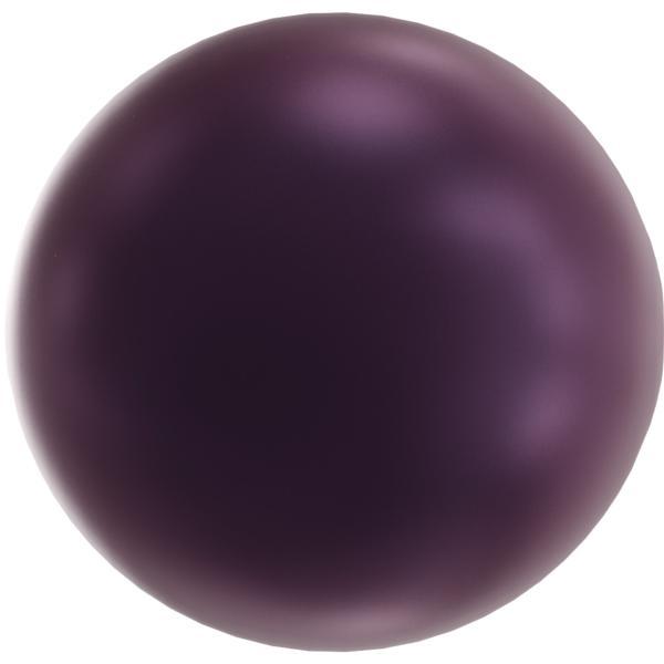 Swarovski 5818 Half-Drilled Round Pearl Elderberry 6mm