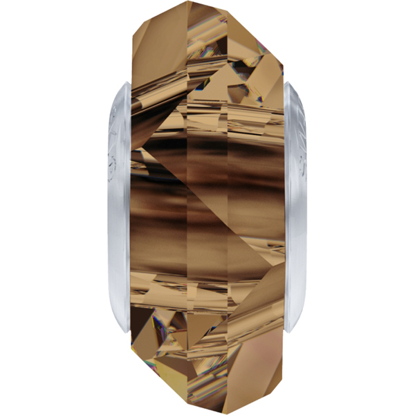 Swarovski 5929 BeCharmed Fortune Bead Light Smoked Topaz 14mm