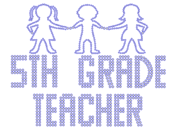 Iron On Transfer - FIFTH GRADE TEACHER