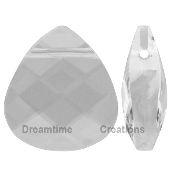 Swarovski 6012 Flat Briolette Pendant Crystal 15.4x14mm