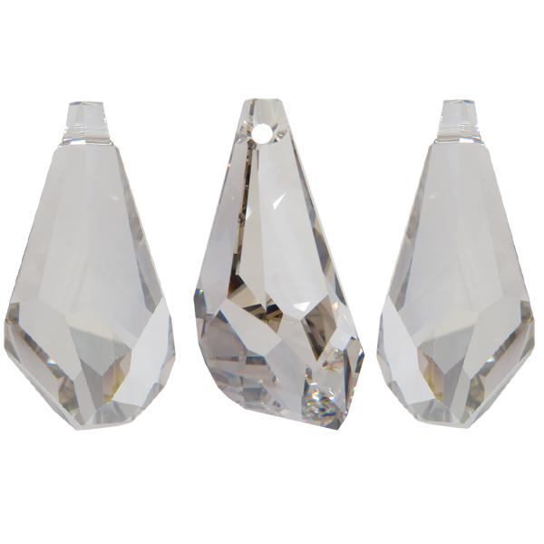f73827a5d0653 Swarovski 6015 Polygon Drop Pendant Crystal Silver Shade SS50mm