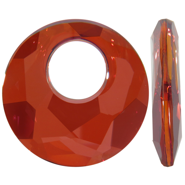 Swarovski 6041 Victory Pendant Crystal Red Magma 28mm