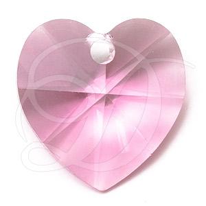 e96428910dcde Swarovski 6202 Heart Shaped Pendant Rose 14.4x14mm