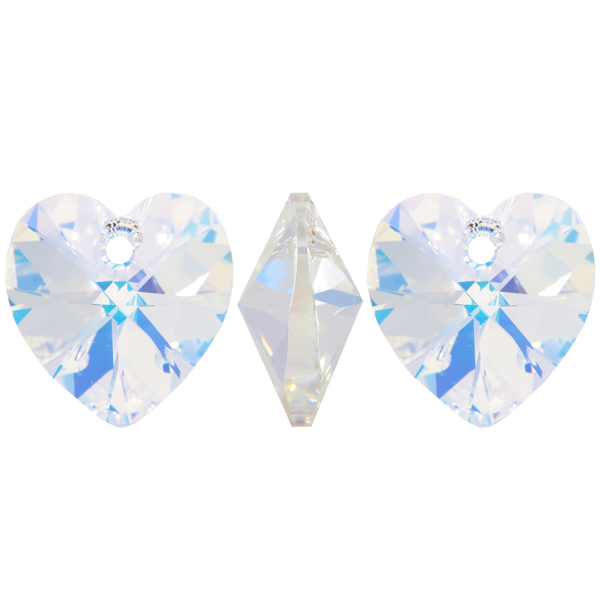 fashion style extremely unique how to buy Swarovski 6228 Heart Shaped Pendant Xilion Cut 28 mm Crystal AB