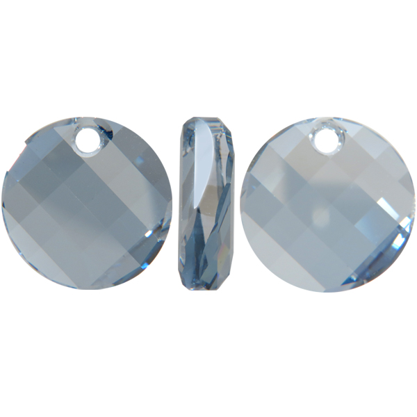 Swarovski 6621 Twist Pendant Crystal Blue Shade 18mm
