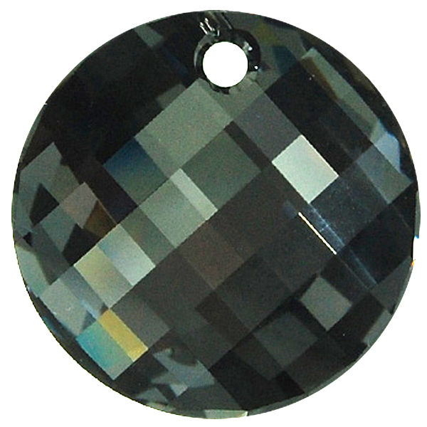 Swarovski 6621 Twist Pendant Crystal Silver Night 28mm