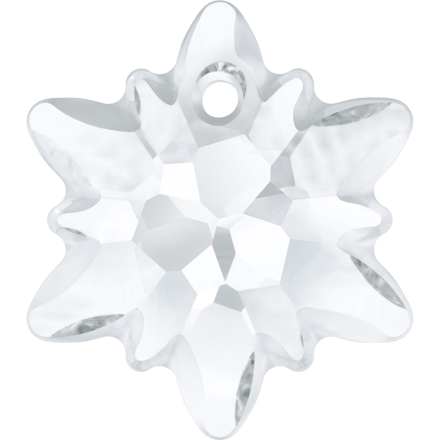Swarovski 6748/G Edelweiss Pendant, Partly Frosted Crystal 28mm