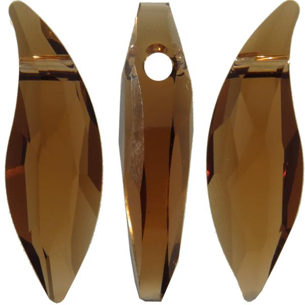 Swarovski 6904 Lily Pendant Smoked Topaz 30mm