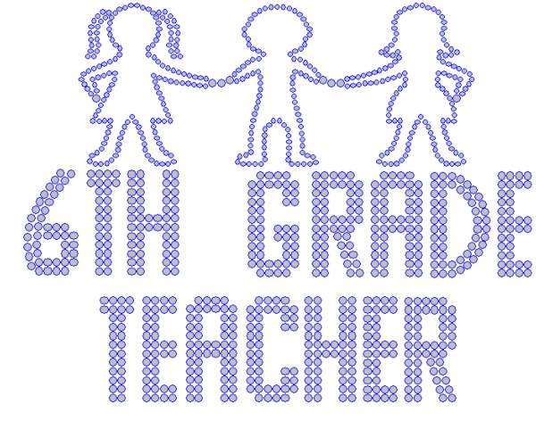 Iron On Transfer - SIXTH GRADE TEACHER