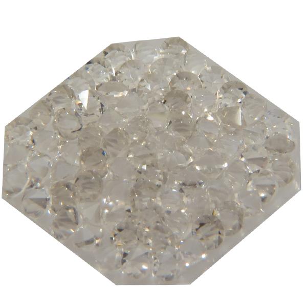 Swarovski 72012 Crystal Rocks Washable Octagon 22 mm Silver Shade