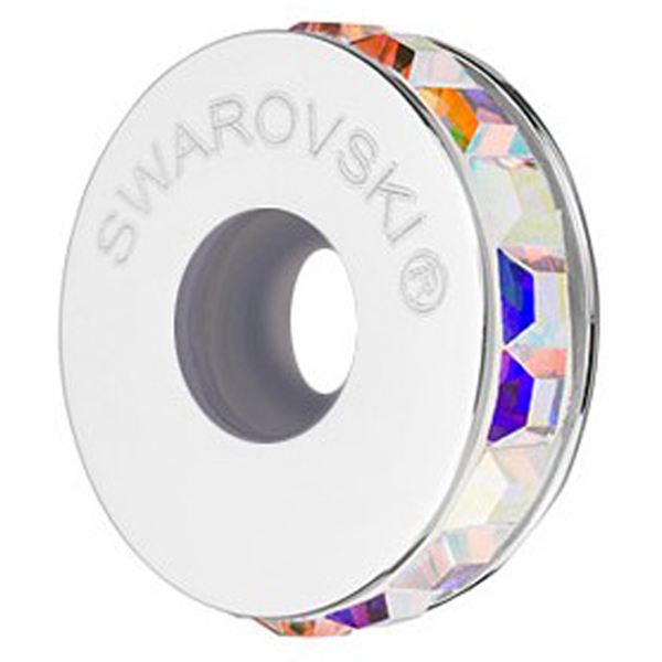 Swarovski 81001 13mm BeCharmed Pave Stopper Crystal AB/Silver