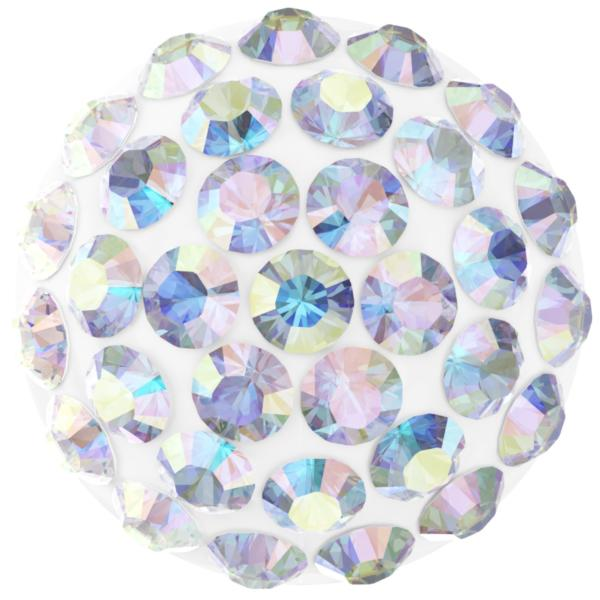 Swarovski 86601 Cabochon Pavé Pure Crystal AB on White 10mm