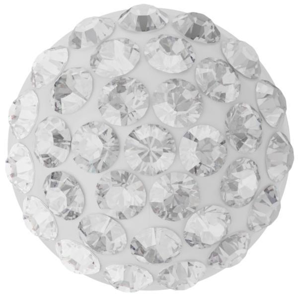 Swarovski 86601 Cabochon Pavé Pure Crystal on White 6mm