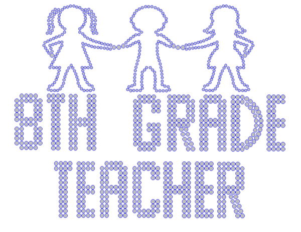 Iron On Transfer - EIGHTH GRADE TEACHER