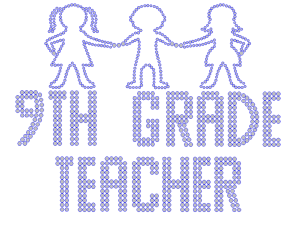 Iron On Transfer - NINTH GRADE TEACHER