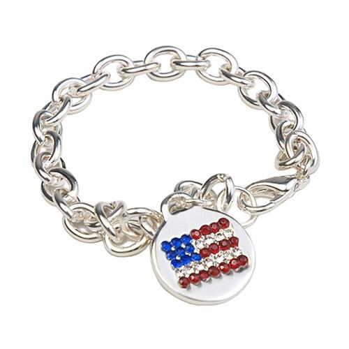 Americana Flag Charm Bracelet