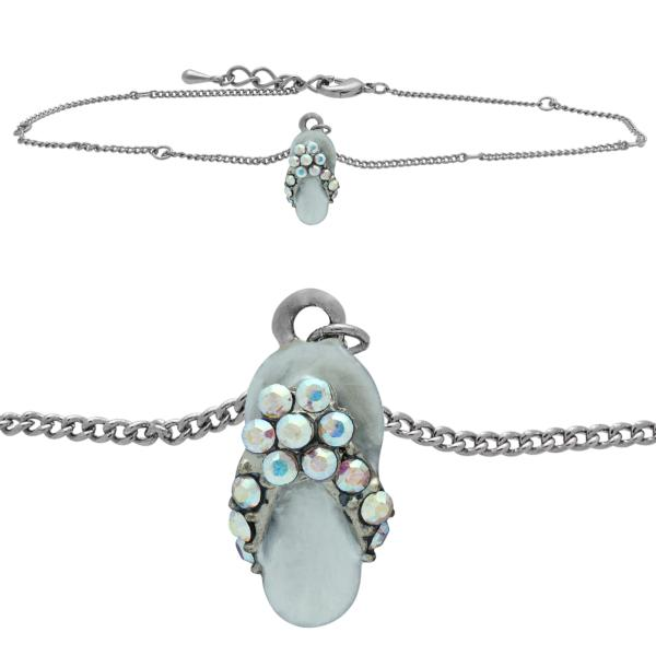 Flip Flop Anklet made with Crystals from Swarovski CAB