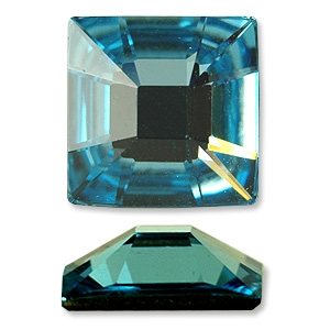 Swarovski 2483 Classic Square Flat Back Aquamarine 10mm