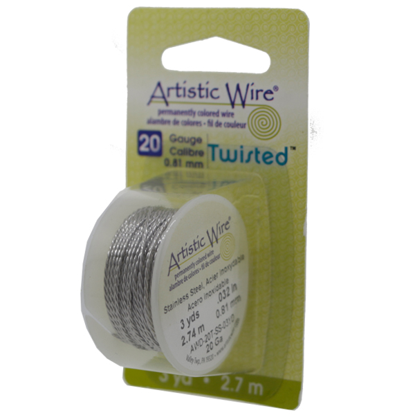 Artistic wire twisted 20 gauge dreamtime creations artistic wire 20 gauge 81 mm twist round stainless steel 3 yd 27 m spool keyboard keysfo Image collections
