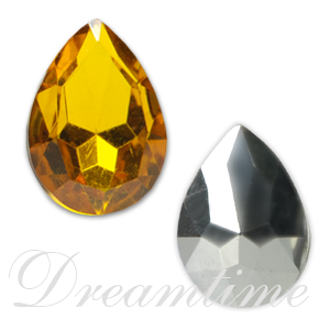 Acrylic Lead Free Pear Shaped Rhinestones