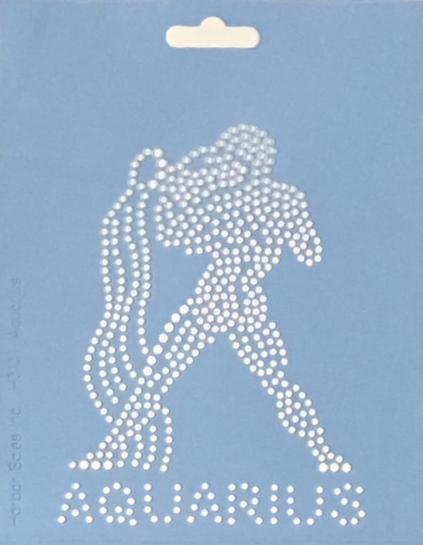 Crystal Style Aquarius Stencil