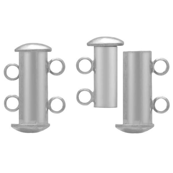 2 Strand Magnetic Clasp Rhodium