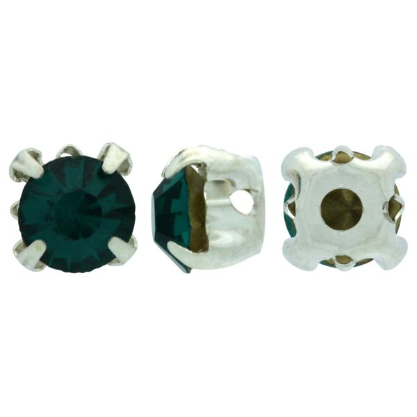 Sew On Rhinestones (in Settings) Chaton Montees SS20 Blue Zircon/Silver