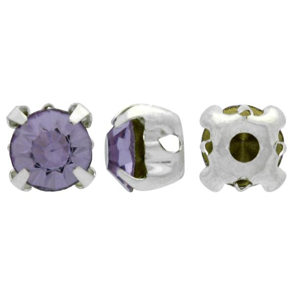 Sew On Rhinestones (in Settings) Chaton Montees SS20 Provence Lavender/Silver