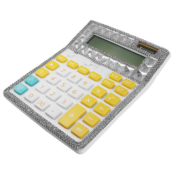 Blinged Calculator Yellow/Turquoise Buttons