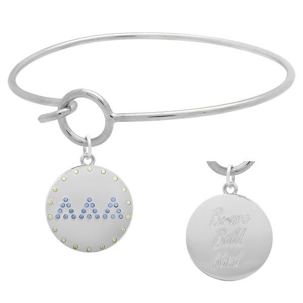 Delta Delta Delta Charm Bangle Bracelet made with Swarovski Crystals