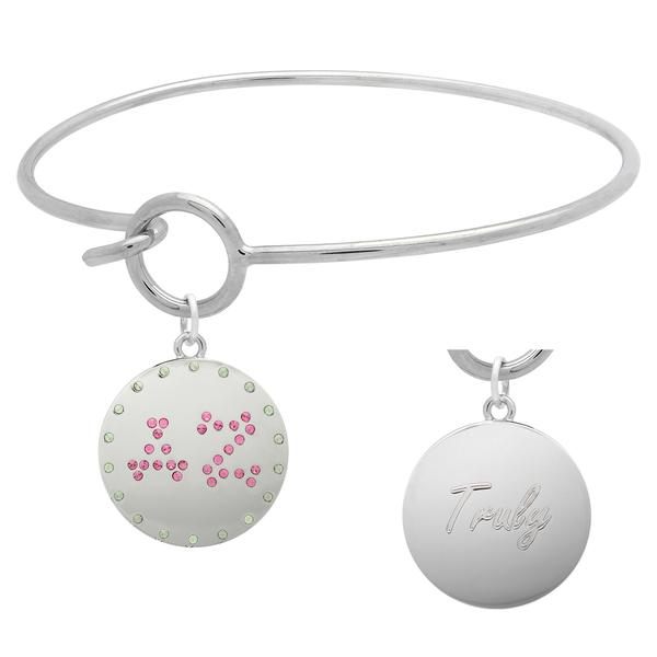 Delta Zeta Charm Bangle Bracelet made with Swarovski Crystals