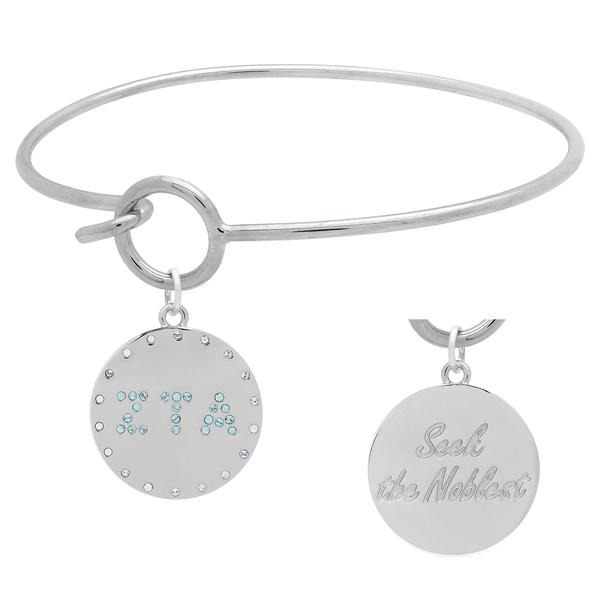 Zeta Tau Alpha Charm Bangle Bracelet made with Swarovski Crystals