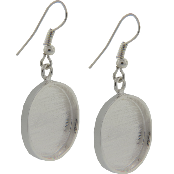 DW Small Circle Earrings 19mm for Embellishing