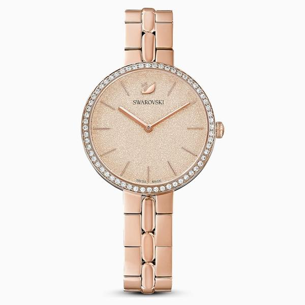 Swarovski Collections Cosmopolitan Watch, Metal Bracelet, Pink, Rose-Gold Tone PVD