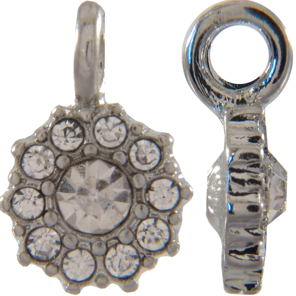 Beadelle® Daisy with Loop Fleurette 12 mm Silver/Crystal