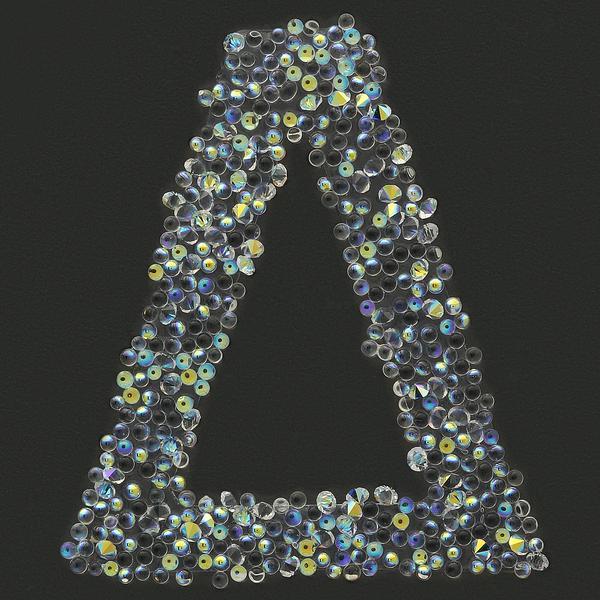 Swarovski Sticker Greek Letter Delta, 25mm Height