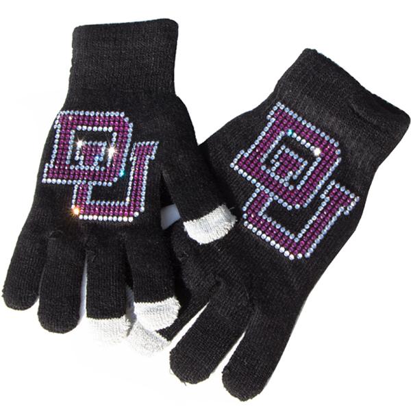 Gloves with Custom Rhinestone Transfer - DU